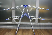 FOLDING Blue Clothes Horse Cloth Aluminium Drying Rack Airer Indoor Outdoor 50m
