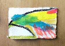 ABSTRACT PAINTING 131 ORIGINAL MINI PAPER DRAWING NIGEL WATERS SIGNED