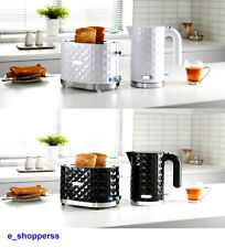 Goodmans Diamond 1.5L Kettle & 2 Slice Toaster Breakfast Set–Black/ White