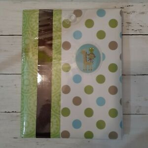 JUST ONE YOU CARTERS BABY MEMORY BOOK NEW IN PACKAGEGREEN & BLUE GIRAFFE MONKEY