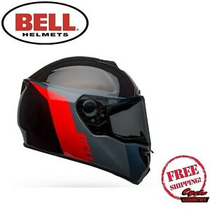 BELL SRT MOTORCYCLE HELMET RAZOR DOT APPROVED W/ DROP DOWN
