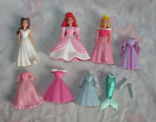 Disney Polly Pocket Princess Lot - 3 Dolls - Belle, Ariel, Aurora - Dresses