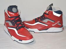 New Reebok Twilight Zone Pump OLYMPIC Red/Navy/White/Silver Reflective sz 11