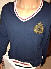 Vtg Philippe Laurent Rugby Men's Sweater Size Large Embroidered Crest Htf