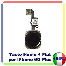 """TASTO CENTRALE HOME BUTTON COMPLETO FLEX PER IPHONE 6 PLUS 5,5"""" NERO"""