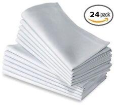 "20""X20""  White Dinner cloth Napkins 24pk 100% Cotton"