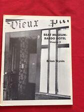 BRION GYSIN   BEAT MUSEUM -  BARDO HOTEL Chapter 2  Inkblot 1982  SCARCE