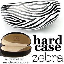 NEW SUNGLASSES HARD CASE SHADES PROTECT SUNNIES SOFT INSIDE FASHION ZEBRA