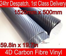 4D Fibra Di Carbonio Vinile Avvolgere Pellicola Grigio 500mm (14,5 pollici) x 1520mm (59.8 in)