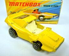Matchbox Superfast Nr. 58B Woosh'N'Push gelb weiße Einrichtung in Box
