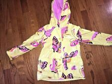 GENUINE KIDS By OSHKOSH Butterflies Yellow Rain Coat Jacket & Hood Girls Sz 4T