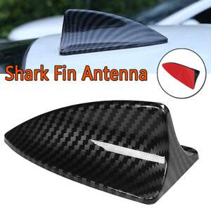 Universal Carbon Fiber Car Dummy Shark Fin Roof Mount Decorative Aerial Antenna