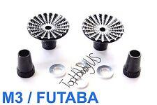 1set M3 Black Futaba / Spektrum DX6i DX7S DX8 DX9 TX Gimbal Sticks TH016-03005B