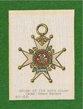 ORDER of the BATH Grand Cross  1915 original Silk Decoration Medal Badge
