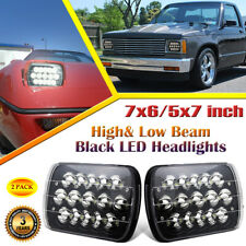 "2pcs Black 7X6"" LED Headlights fit for Chevrolet Blazer S10 C6500 Truck Corvette"