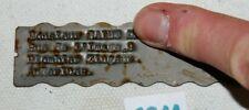 C211 Ancienne plaque en métal - publicitaire - Anderlues - plombier zingueur