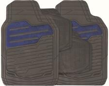 BLUE/BLACK Set of 4 Heavy Duty Rubber Carpet Mats (RM122) MC18/02