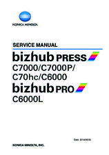 Service & Parts Manual Konica Minolta bizhub Press C7000/P C70hc C6000 PROC6000L