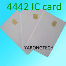 10 PCS ISO 7816 IN PVC BIANCA CON IC CHIP sle4442 Blank SMART CARD IC Scheda contatto