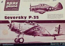 Rare Plane 1:72 Seversky P-35 Vacuform Aircraft Kit #18