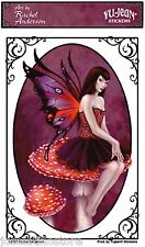 """Rachel Anderson's """"Amanita Muscaria (fly amanita)"""" 5x3 inch Vinyl Sticker Decal"""
