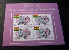 Souvenir Sheets Foreign Ghana Scott# 263a Soccer 1966  MNH C503