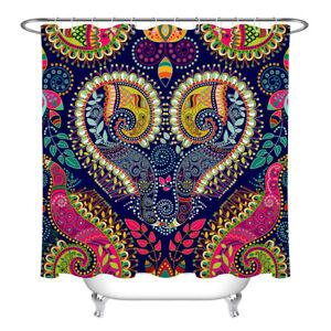 "72/79"" Waterproof Fabric Shower Curtain Liner Beautiful Colorful Paisley Pattern"