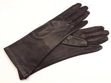 FOWNES BROWN LEATHER GLOVES w/ ANTRON LINING, PHILIPPINES sz 6-1/2, VTG unworn