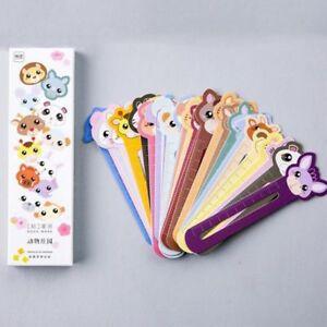 30Stück/Set Kinder Tierpapier Cartoon Lesezeichen Inhaber Briefpapier Versorgung