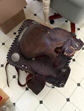 Nice Royal King Western Leather Saddle With Silver Conchos!!