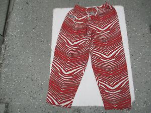 VINTAGE ZUBAZ OHIO STATE OSU BUCKEYES LARGE ZEBRA STRIPED PANTS PREOWNED 90s