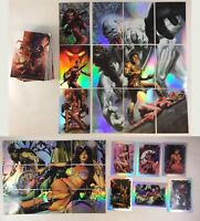 WARLORD OF MARS (BREYGENT/2012) Complete Base Card Set + ALL 27 FOIL CHASE CARDS