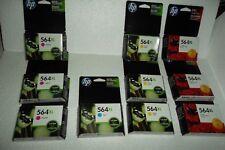 LOT-10 HP 564X Multi-Pack Cyan Magenta Yellow Ink Cartridges #140 CB324WN NEW