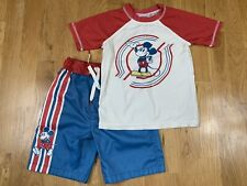 Junk Food Gap Xs S 4 5 years 4T 5T Toddler Boys Mickey Mouse Swim Shorts Top