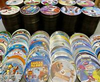 100 DVD Lot Kids Wholesale Great For Resale Bulk Movies Tv Show Lot Discs Only