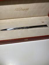 New S.T. Dupont Vintage Silver Ballpoint Pen