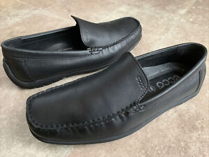 Ecco 27670 Leather Casual Slip On Driving Loafers Shoes Men's Sz 45 / 11 - 11.5