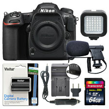 Nikon D500 20.9 MP 4K Digital SLR Camera Body + 64GB Power Video Kit