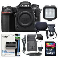 Nikon D500 20.9 MP 4K Digital SLR Camera Body + 64GB Power Video Kit