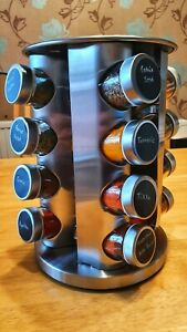 16 Spice Revolving Spice Rack, 16 Spices Included - FREE UK Delivery, 🌎 Avail'