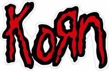 "11008 Korn Red Logo Hard Rock Alternative Nu Metal Music Band 5"" Sticker / Decal"