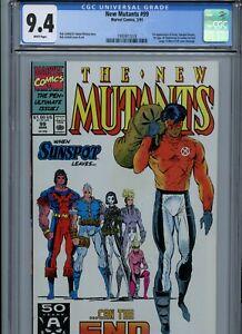CGC 9.4 New Mutants #99 !st Appearance App Feral, Shatterstar