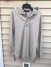 Polo Golf Ralph Lauren Long Sleeve Golf Shirt Gray, Solid, Cotton size S $97.50