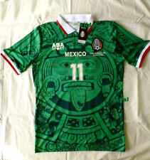 a8b6690bf7b New ABA SPORT Mexico 1998 BLANCO #11 Jersey LARGE RETRO France Home TRUE  SIZE