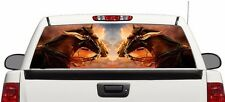 Horses on sunset rear window graphics perforated Decal Sticker Truck SUV RAM F15