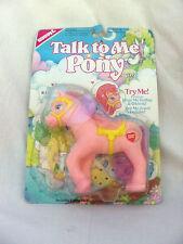 Vintage 1990 BUDDY L Talk To Me Pony ~ Pink My Little Pony ~ Very Rare Toy NOS
