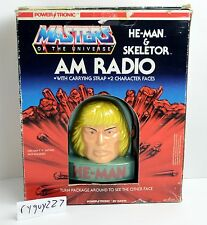 MOTU, He-Man & Skeletor AM Radio, Masters of the Universe, MIB, MOC, box