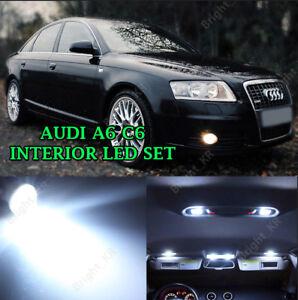 FOR AUDI A6 C6 2005-2011 INTERIOR LED BRIGHT XENON WHITE FULL LIGHT SET - CANBUS