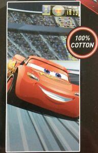 Beach Towel Cars Lightning McQueen Disney Terry Cloth 28x58