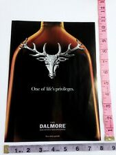 Ad Magazine Clipping - The Dalmore Highland Scotch Whisky royal stag buck deer